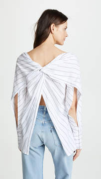 Dion Lee Poplin Reversible Twist Yoke Shirt