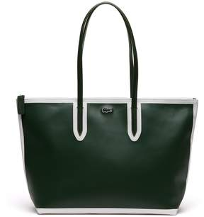 Lacoste Women's L.12.12 Concept Colorblock Petit Pique Large Zip Tote Bag