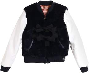 N°21 Faux Fur & Faux Leather Bomber Jacket