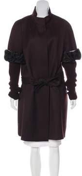 Christian Lacroix Lamb-Trimmed Wool Coat