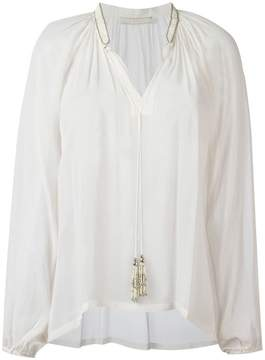 Amen tassel neck blouse