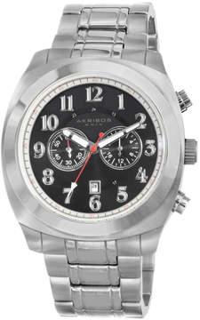 Akribos XXIV Akribos Black Dial Chronograph Stainless Steel Men's Watch