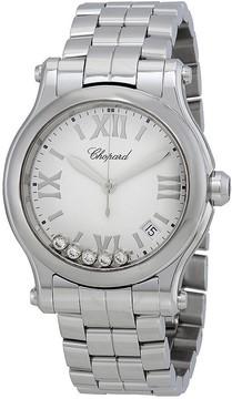 Chopard Happy Sport White Matte Dial Ladies Watch