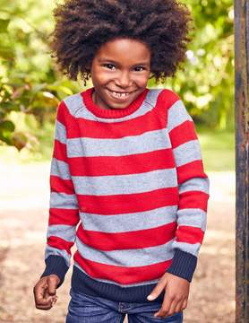 Boden Stripy Raglan Crew Sweater