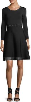 Shoshanna Grand Long-Sleeve A-Line Dress