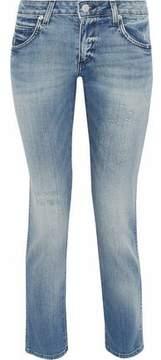 Amo Kate Distressed Low-Rise Slim-Leg Jeans