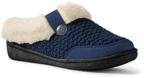 Lands' End Lands'end Women's Knit Sherpa Lined Slippers