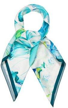 Roberto Cavalli Silk Floral Scarf w/ Tags
