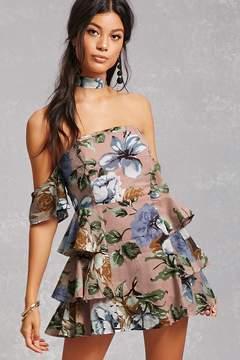FOREVER 21 Selfie Leslie Floral Mini Dress