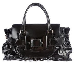 Gucci Queen Leather-Trimmed Tote - BLACK - STYLE