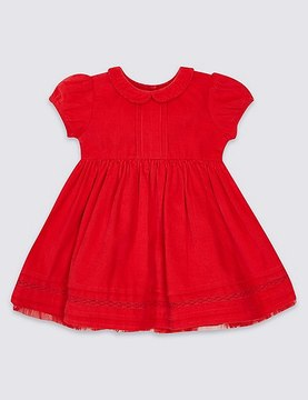 Marks and Spencer Pure Cotton Short Sleeve Cord Dress