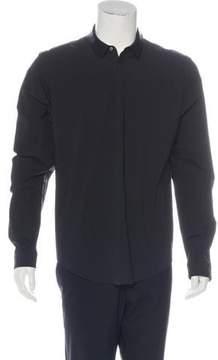 Juun.J 2016 Leather Collar Shirt