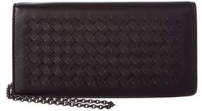 Bottega Veneta Intrecciato Leather Continental Wallet.