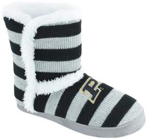 NCAA Women's Purdue Boilermakers Striped Boot Slippers
