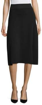 DKNY Merino Wool Flare Midi Skirt