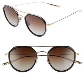 Salt Women's 50Mm Polarized Round Sunglasses - Black/ Honey Gold