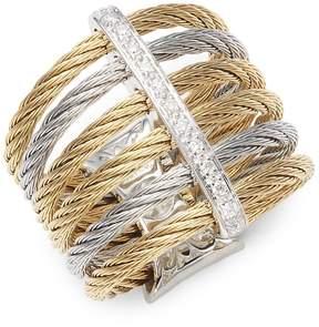 Alor Women's 18K Gold & Stainless Steel Diamond Midi Ring