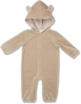 Marie Chantal Baby Boy Velour Bear Suit - Caramel