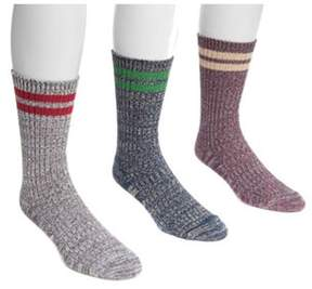 Muk Luks Men's Striped Socks.