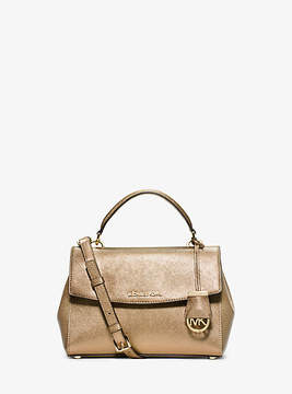 Michael Kors Ava Small Saffiano Leather Satchel - GOLD - STYLE