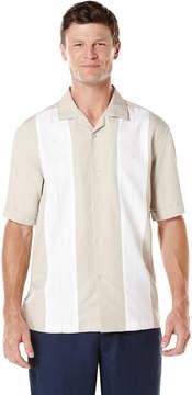 Cubavera Camp Collar Short Sleeve Contrast Panel