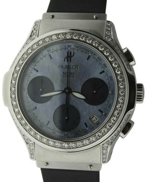 Hublot Chronograph Stainless Steel Diamond Watch
