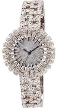 Burgi Sparkling Dial Silver-tone Ladies Watch