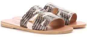 Ancient Greek Sandals Apteros snakeskin sandals
