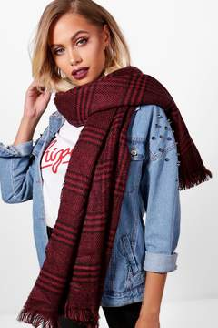 boohoo Kelsey Brushed Check Scarf
