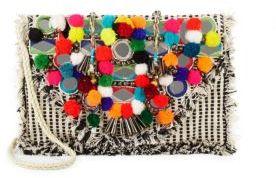 Pom-Pom Embellished Bag