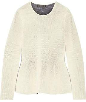 Calvin Klein Collection Open-Knit Peplum Sweater