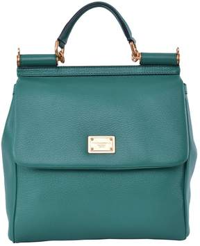 Dolce & Gabbana Sicily leather handbag - GREEN - STYLE