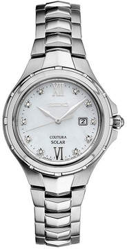 Seiko Womens Silver Tone Bracelet Watch-Sut307