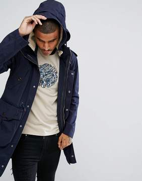 Pretty Green Grosvenor Parka Jacket In Navy