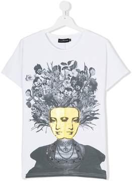 John Richmond Kids Teen face print T-shirt