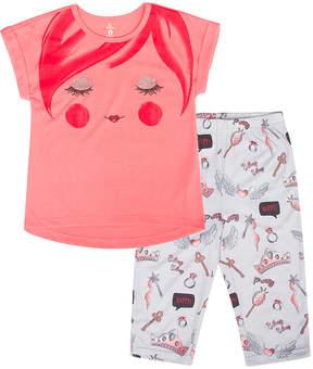 Petit Lem Coral Fashionista Pajama Set - Girls