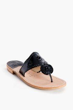 Jack Rogers Black Palm Beach Sandals