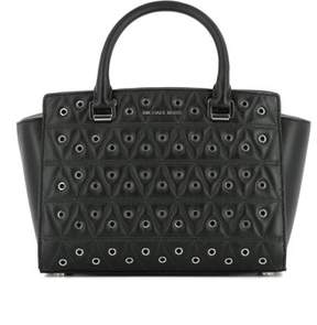 Michael Kors Women's Black Leather Handbag. - BLACK - STYLE
