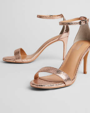 Express Metallic Low Heeled Sandals