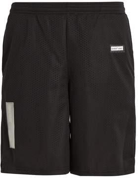Off-White Logo-print mesh shorts