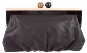 Kate Spade Leather Framed Clutch - BLACK - STYLE