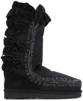 Mou ruffle detail winter boots