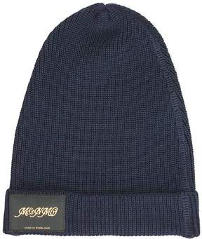 Stella McCartney Classic Blue Knitted Beanie Hat