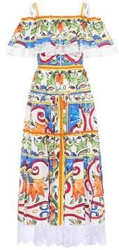Dolce & Gabbana Printed cotton-blend dress