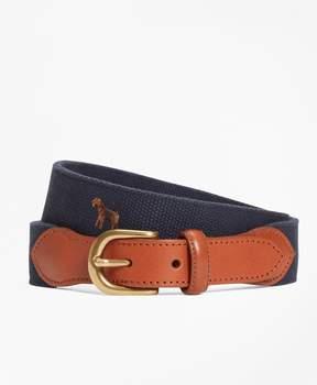 Brooks Brothers Embroidered Dog Belt