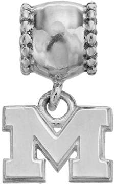 Dayna U Sterling Silver Michigan Wolverines Team Logo Charm