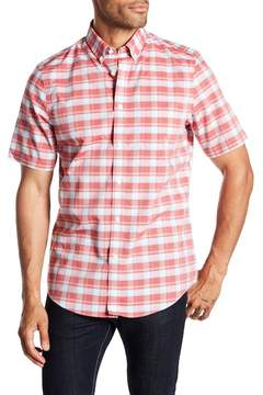 Nordstrom Check Print Short Sleeve Regular Fit Shirt