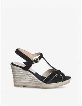 Office Evita suede espadrille wedge sandals