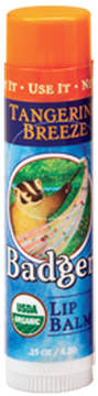 Tangerine Breeze Lip Balm Stick by Badger (0.15oz Lip Balm)