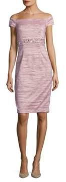 Eliza J Off-the-Shoulder Beaded Dress